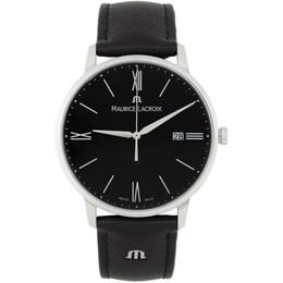 Maurice Lacroix Black Eliros Date 40mm Watch EL1118-SS001-310-1