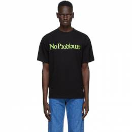 Aries Black No Problemo T-Shirt FRAR60002