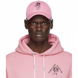 Palm Angels Pink Embroidered Graphic Cap PMLB003F20FAB0023010