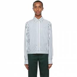 Lanvin White and Blue Stripe Shirt RM-SI0504-S037-H20