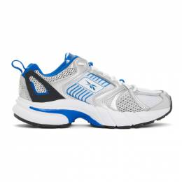 Reebok Classics White and Blue Premier Sneakers FW1843