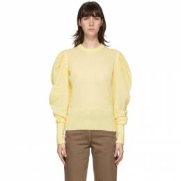 J.W. Anderson Yellow Ruched Shoulder Sweater KW0386-YN0045