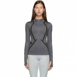 Adidas by Stella McCartney Grey Hooded TruePace Sweatshirt FU0293