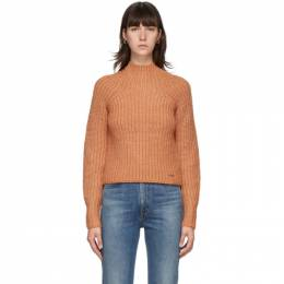Victoria, Victoria Beckham Orange Bell Sleeve Sweater 2320KJU001642A
