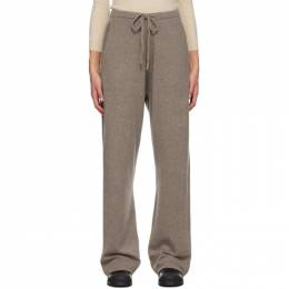Extreme Cashmere Brown Cashmere Run Lounge Pants 142