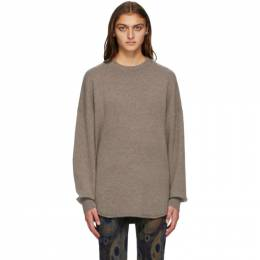 Extreme Cashmere Brown Cashmere Crew Hop Sweater 53