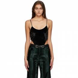 Y / Project Black Velvet High Cut Bodysuit WBODY13-S19