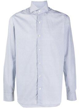 Barba micro-print long-sleeved shirt LIU13P016921