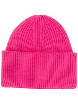 Laneus кашемировая шапка бини в рубчик ACU309