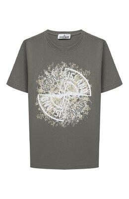 Хлопковая футболка Stone Island 731621057/10-12
