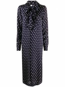 Plan C платье-рубашка с оборками и узором в горох ABCAB64AKVTV012