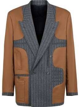 Fendi panelled pinstripe blazer FJ0276ADTH