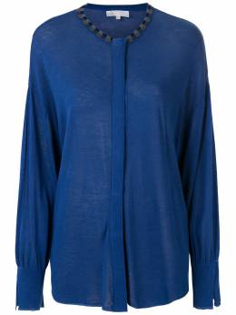 NK трикотажная блузка с вышивкой CM031025
