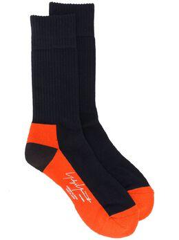 Yohji Yamamoto носки в стиле колор-блок с логотипом HRM01061