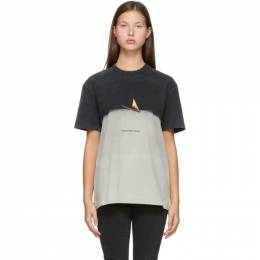 Alexander Wang Grey Match Graphic T-Shirt 6CC2201007
