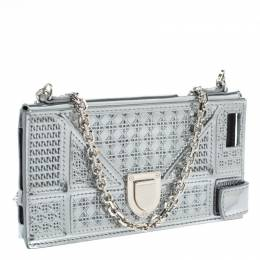 Dior Silver Canngae Patent Leather Diorama iPhone 6/7 Case On Chain 330314