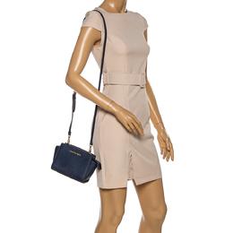 Michael Kors Navy Blue Leather Mini Selma Crossbody Bag 331582