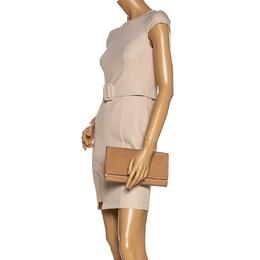 Louis Vuitton Beige Poudre Patent Leather Louise Clutch 331359