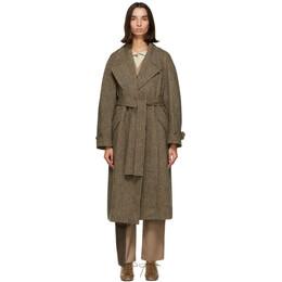 Low Classic Brown Wool Harris Tweed® Coat LOW20FW_CT04BR