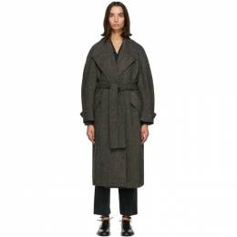 Low Classic Grey Wool Harris Tweed® Coat LOW20FW_CT05GR