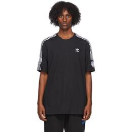 Adidas Originals Black and White 3D Trefoil 3-Stripes T-Shirt GN4306