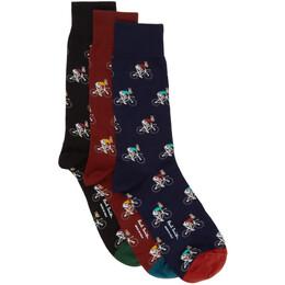 Paul Smith Three-Pack Multicolor Rabbit Socks M1A-SOCK-ARABB