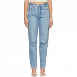 Grlfrnd Blue Distressed Devon Jeans GF41768861498