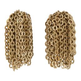 J.W. Anderson Gold Chain Tassel Earrings JY0057-OT0003