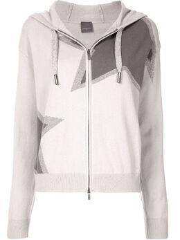Lorena Antoniazzi куртка с капюшоном и принтом A20128FM0012048
