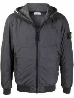 Stone Island stripe detail hooded jacket 731540423