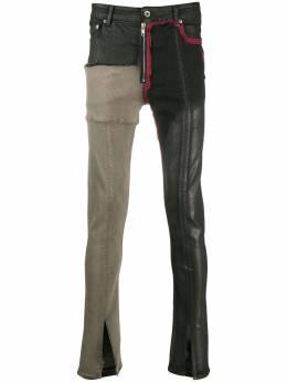 Rick Owens DRKSHDW patch work skinny jeans DU20F1352SCOMW2