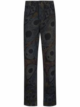 Eckhaus Latta прямые джинсы с абстрактным принтом 334ELPF20EXDS