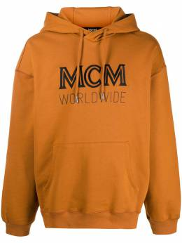 MCM embroidered logo hoodie MHAASMM03