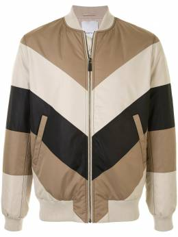 Ports V куртка-бомбер на молнии в стиле колор-блок VL9JSB41KWP041