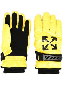 Off-White перчатки с логотипом OMNE024F20FAB0011810