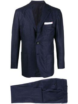 Kiton костюм с однобортным пиджаком UA89K01T5203