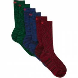 Affix Three-Pack Multicolor Static Socks AW20ACC15