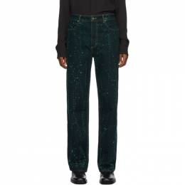 Eckhaus Latta Blue and Green Wide-Leg Jeans 334-EL-AW20-VS