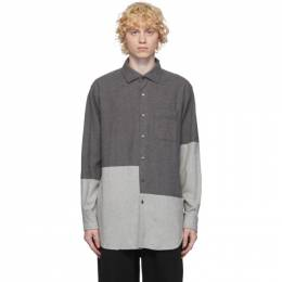Engineered Garments Grey Brushed Cotton Shirt 20F1A013