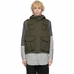 Engineered Garments Khaki Field Vest 20F1C004