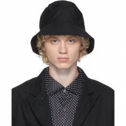 Engineered Garments Black Twill Bucket Hat 20F1H003