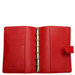 Louis Vuitton Red Epi Leather Agenda Cover 332667