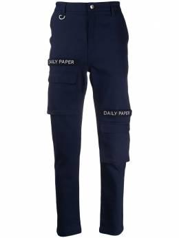 Daily Paper брюки карго с нашивкой-логотипом CARGOPANTSNAVY