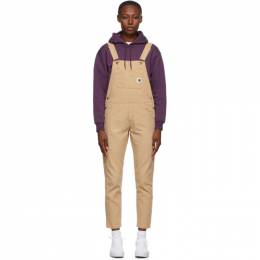 Carhartt Work In Progress Tan Cotton Overall Jumpsuit I028634 07E3