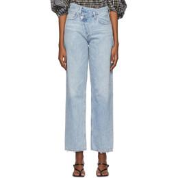 Agolde Blue Criss-Cross Jeans A097-983