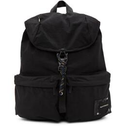 Ader Error Black Torn Label Backpack BTAFWBP02BK