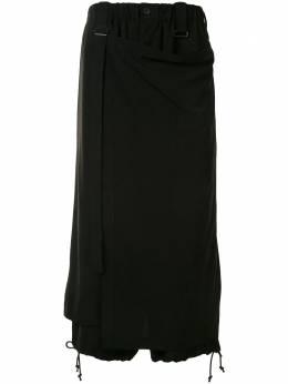 Yohji Yamamoto укороченные брюки свободного кроя с запахом NRP59500
