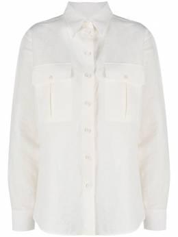 Jil Sander рубашка оверсайз с накладными карманами JSCR600005WR330800