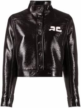 Courreges куртка с логотипом 320CBL005VY0001