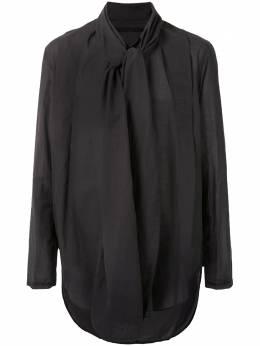 Julius рубашка с длинными рукавами и шарфом 717SHM2